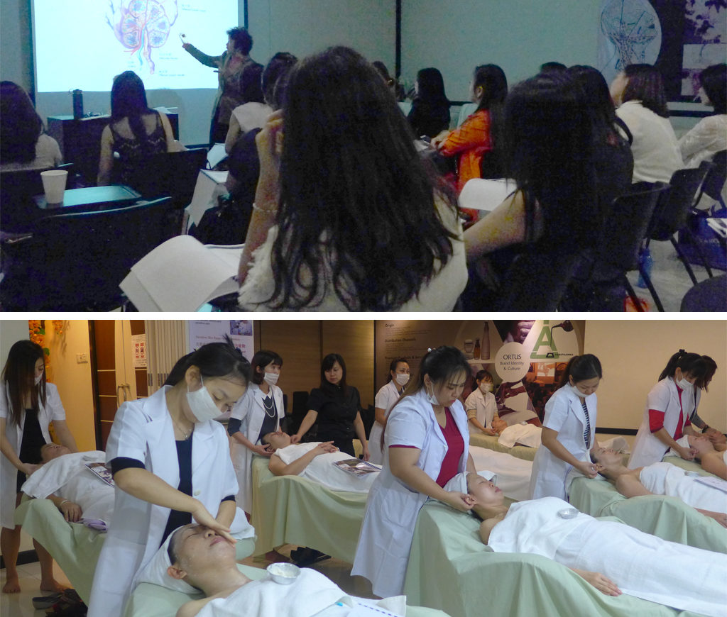A compulsory massage therapy in the global beauty industry